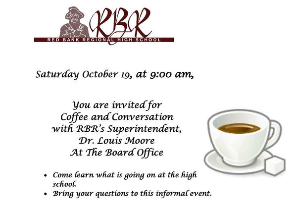 Oct. 19 Coffee and Conversation