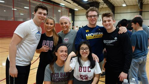 Pictured are members of RBR's BUCs (Buccaneer Unified Club Sports) team in basketball