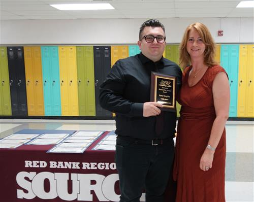) RBR alumnus Lance Vanglahn was given the Community Service Award