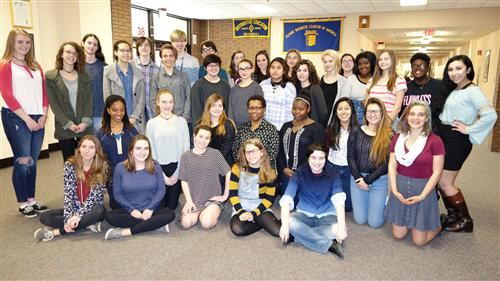 RBR Creative Writing Majors and Scholastic Writing and Art Award Winners