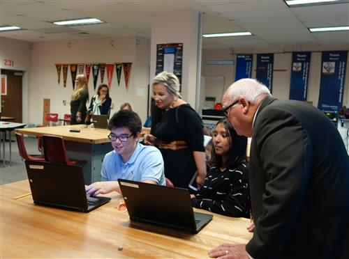 NJ Dept  of Ed Visits RBR to Learn about Award-Winning CTE Programs