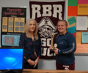 Kristin Dingelstedt, Shrewsbury, is pictured with her RBR engineering teacher Kathryn Hawley