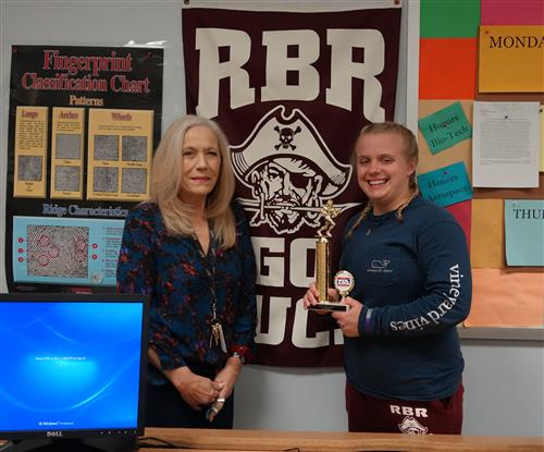 RBR Student Engineered Faux Cake Takes First Place In State