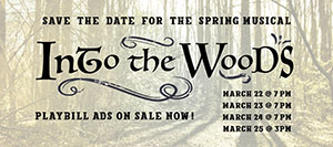 RBR Theatre Co to Present Into the Woods March 22-25, Playbill ads due Feb. 23