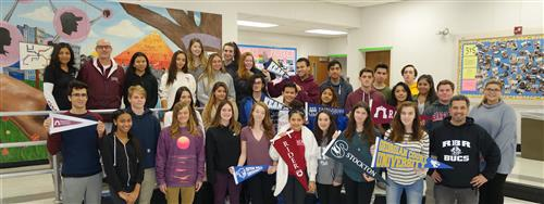 Pictured are RBR students who learned they were accepted to college on Instant Decision Day