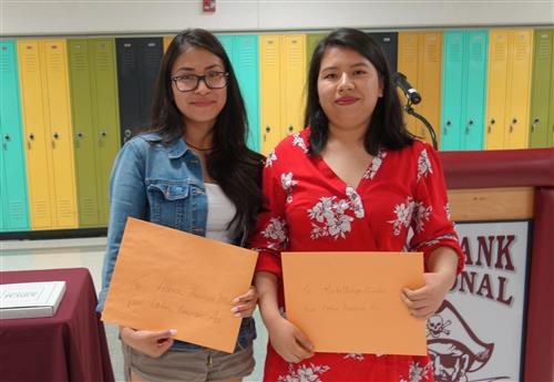 Karla Ortega Cuautle and Allison Medina received the Latino American Association Scholarship Award.