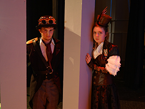 Luke Pearlberg, Brielle, and Dixie O'Connell, Little Silver portray Macbeth and Lady Macbeth