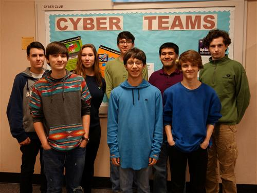 Pictured are eight of the 19 students who placed high in the regional FBLA competitions