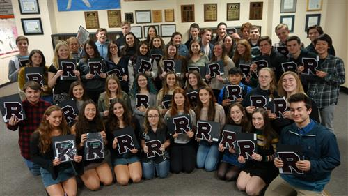 RBR students who earned Academic Varsity Letters for their last school year.