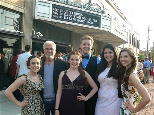 Joe Russo with some of his adoring students at the Basie Awards in 2012