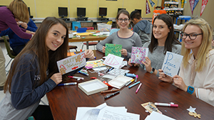 RBR students create holiday cards for kids in hospitals