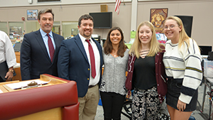 RBR technology students were honored at a recent Board of Education meeting