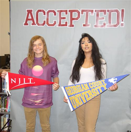 Students Harrison Ford, and Alanah Ramos,  were excited and relieved to receive acceptances to college.