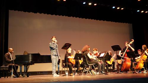 The string orchestra performed classics at the RBR Black History Month celebration
