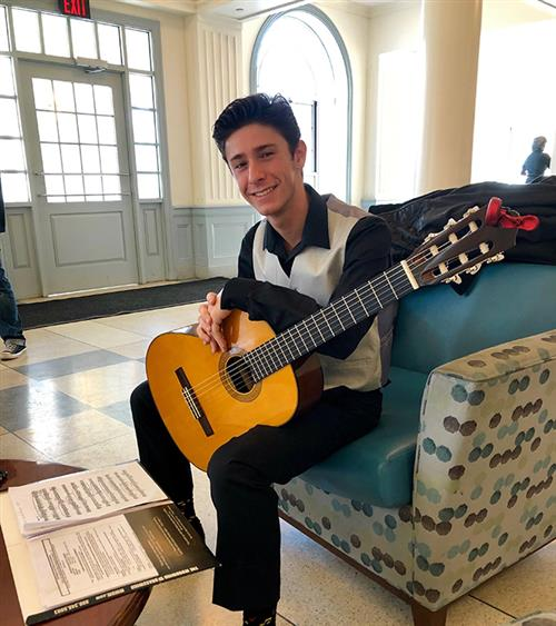 John Simone was accepted into the prestigious NJMEA Honors Guitar Ensemble