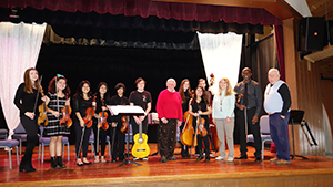 RBR string ensemble students performed for the Shrewsbury Homesteaders on Jan 11.