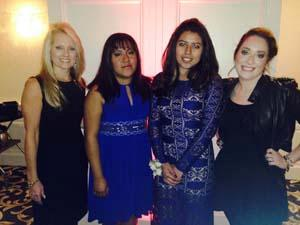 Suzanne Keller is pictured with Mariela Reyes, Jocelyn Rojas and Veronica Perez; all are RBR graduates