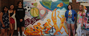 Are RBR VPA Art Majors created mural art for the physical education department