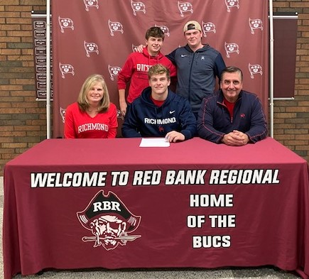 Owen Laughlin pictured with his family
