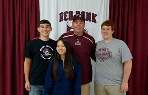 RBR Athletic Director Del Dal Pra with several of his student athletes