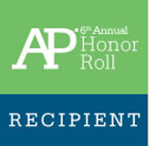 RBR was placed on the AP Honor Roll for its students' performance and participation in AP courses