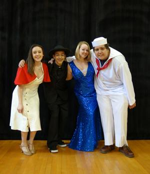 Stars of RBR's musical Anything Goes!