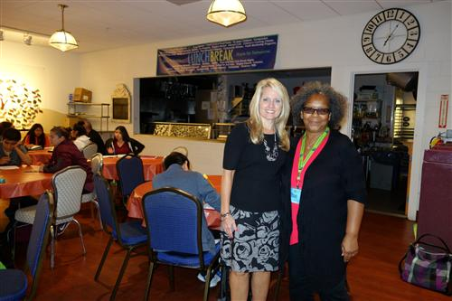 Suzanne Keller, Director of the Source and Gwendolyn Love, Executive Director of Lunch Break