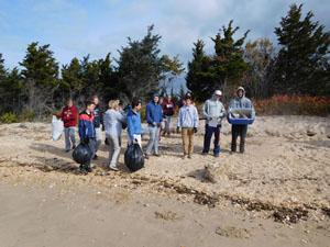 RBR Environmental Students Clean-up Sandy Hook beaches