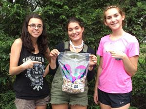 RBR students Samantha LaRocca, Emma Craven,  and Morgan Grant,