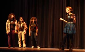 By popular demand, Girl Be Heard, a non-profit, women-only theatre collective returned to perform for RBR.  They communicated