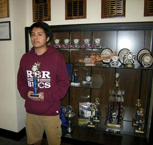 Senior Jose Ramirez took first place at the TSA State Competition