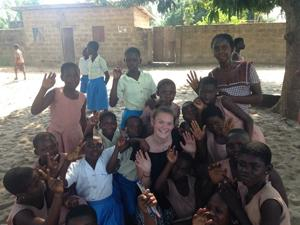 Junior Julia Nijnens with her Ghanaians friends