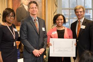 Morgan Brunson was honored with the Princeton Race Relations Award