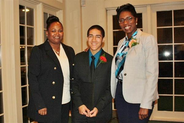 Community YMCA's  Joann Rountree,   Nicholas Villalobos-Best and Community YMCA Rhonda Anderson