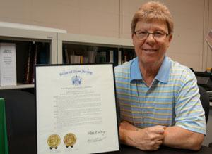RBR retired supervisor was honored by the state legislature