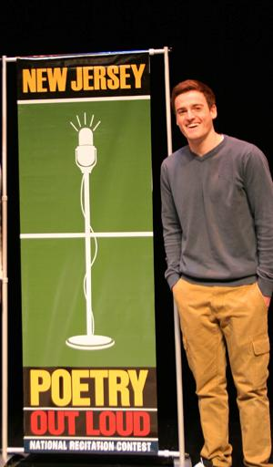 Patrick Monaghan of Little Silver won the New Jersey Regional Poetry Out Loud Region 3 Semi-finals