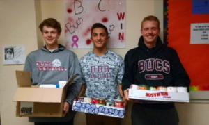 Liam Joyce, 9th grade; Jack Navitsky, 12th grade; Devon Barnes, 12th grade.