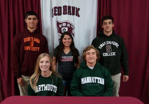 RBR student athletes sign to play college ball.