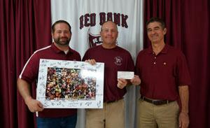 RBR coach Jeff Mauro, Athletic Director Del Dal Pra and RBR Alumnus Jim Palumbo