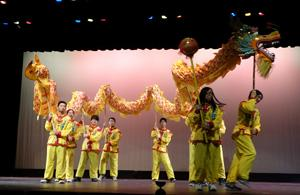 The Jersey Shore Chinese School performed the famous Dragon Dance