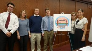 Unveiling of the RB Park and Rec logo created by RBR student Jack Davis