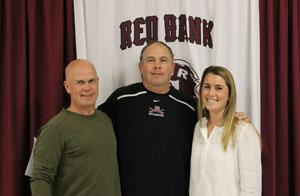 .  Pictured with the RBR Athletic Director Del Dal Pra (center) are Kevin Main, and Brook Connell