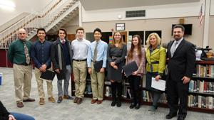 RBR's Commended Scholars are pictured with RBR Adminstration