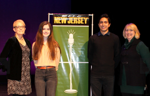 RBR Sophmore Shea Grant is pictured with fellow finalist at the Poetry Out Loud Competition