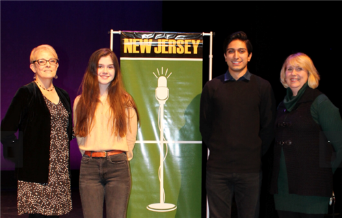 RBR Shea Grant is pictured at poetry Out Loud Regional competition