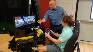 RBR Seniors used a driving simulator to sense what it is like to drive impaired during Project Prom