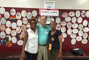 Gilda Rogers, Sid Bernstein,  and Lorraine Stone visited RBR Summer Slam